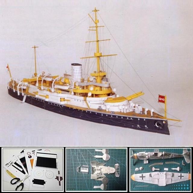 3D Paper Model Battleships Austrian-Hungarian battleship WIEN 1:400 scale 40cm Long 3d puzzles toy model papercraft for adult