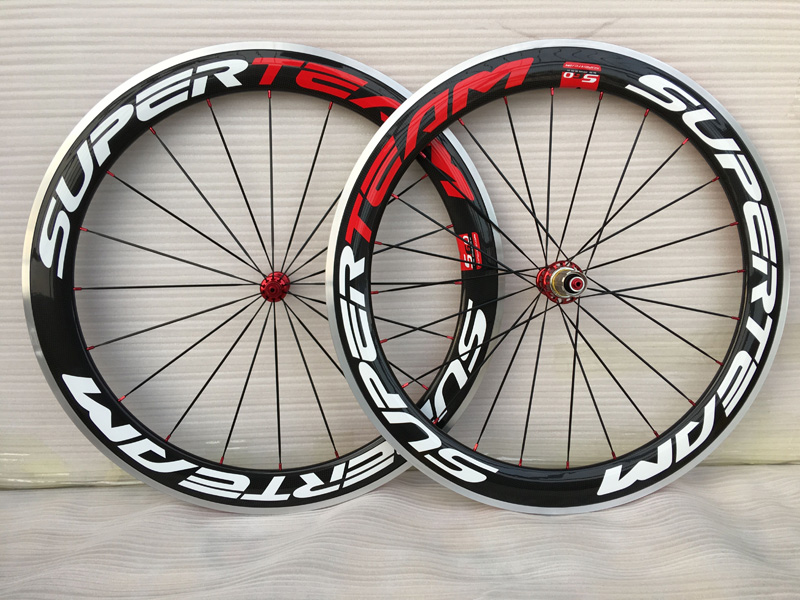 700C Aluminum Brake Carbon Wheels Bicycle Wheelset 60mm Clincher Alloy Braking Road Bike Wheels 23mm width