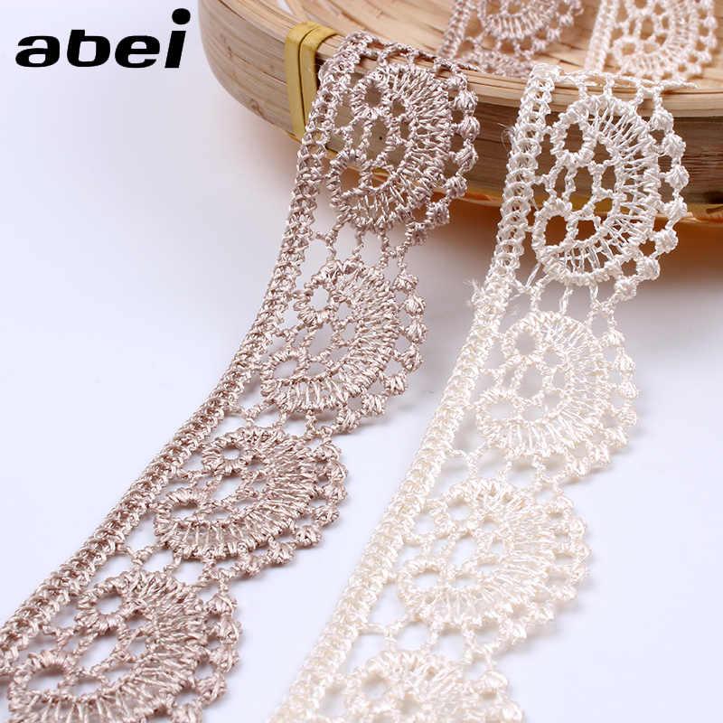 Vestido de encaje hágalo usted mismo patrón de ganchillo Cinta Tiras de boda adornos soluble en agua