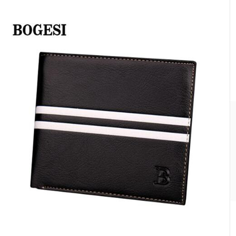 BOGESI New Men 's Wallet Card holder' s ID Well Known Designer Men 's Package Brand PU Men' s Wallet Zipper Poucht Card Holder цена и фото
