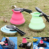 Silicone Foldable Kettle Creative Candy Color High Temperature Outdoor Camping Portable Kettle