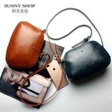 Sunny shop marke designer mini frauen hohe qualität echtes leder umhängetaschen frühling kleine casual handtasche braun blau farbe
