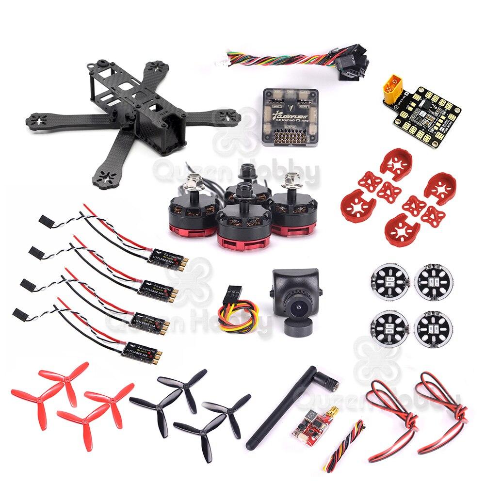 Oyuncaklar ve Hobi Ürünleri'ten Parçalar ve Aksesuarlar'de QAV R 220X220 220mm drone iskeleti F3/F4 uçuş kontrolörü RS2205 2300kv 30A S Esc TS5828L verici 700TVL Kamera Combo'da  Grup 1