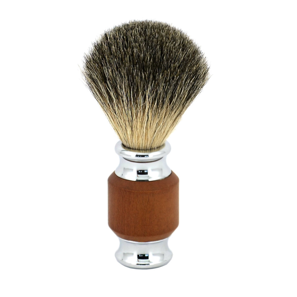 ZY Men Shaving Razor Beard Brush Natural Pure Badger Hair Shaving Brush Wood Handle александр мазин слепой орфей