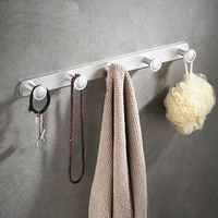 A1 Free punching space aluminum bathroom towel rack hook clothes towel row hook hanger wall hanging wx7241028