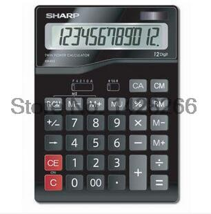 Genuine Sharp font b calculator b font CH 612 office computer 12 solar large display
