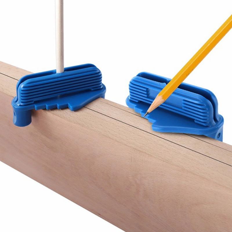 Rockler Centre Offset Marking Tool Household Multi-functional Practical Durable Precise Mark Blue Center Scratches