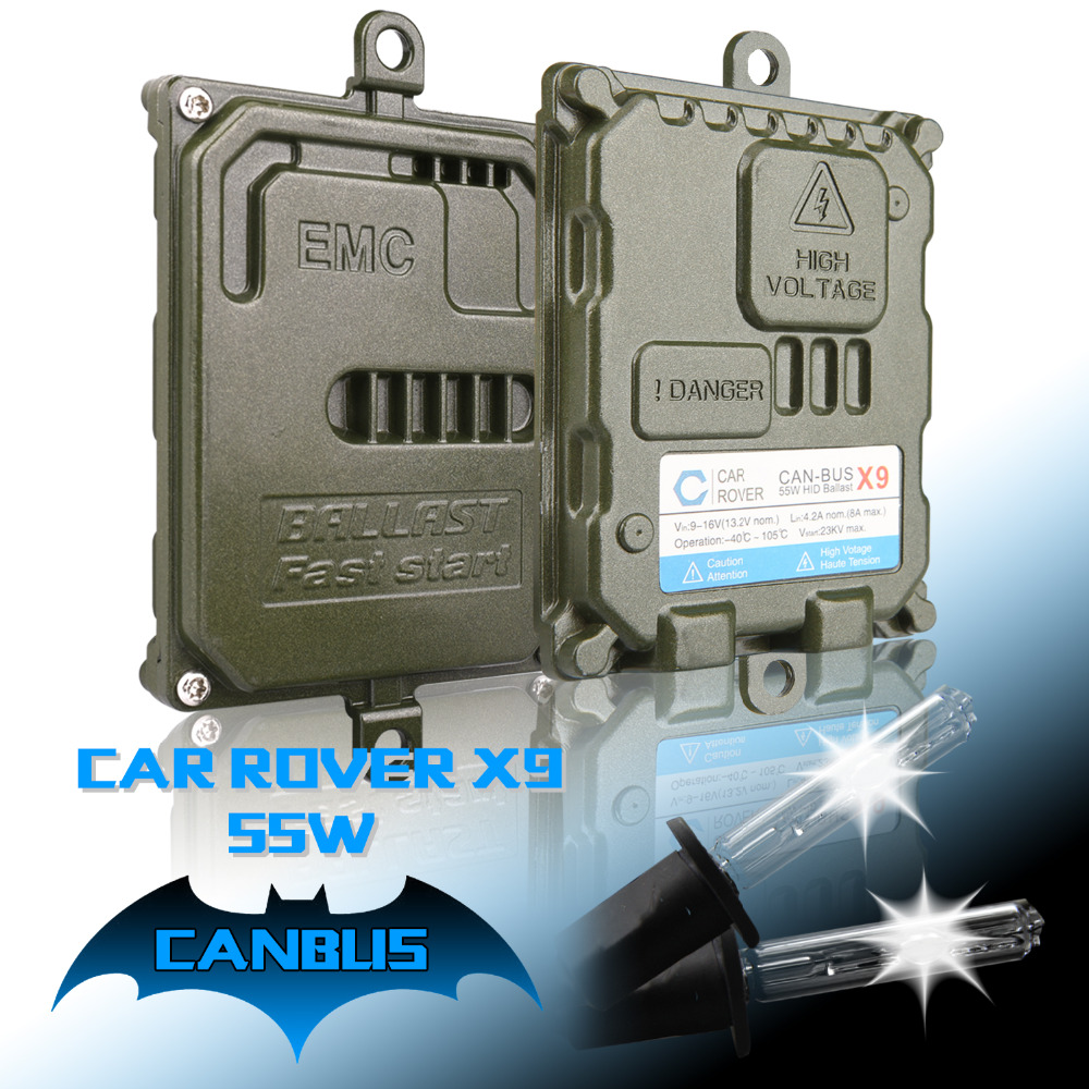 New Arrival 55w Super X9 Canbus HID Xenon Headlight kit H1 H3 H7 H11 HB3 9005