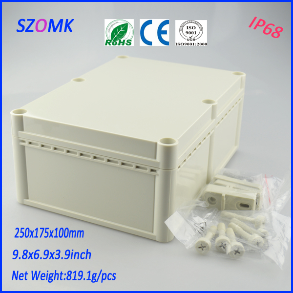 waterproof plastic enclosure (2 pcs)250*175*100mm customizable electronics enclosures for pcb plastic project box junction box цена