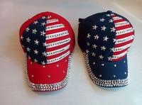 Wholesale 2016 High Quality Fashion Rhinestone Cap Diamond Baseball Cap Snapback Cotton Hat Diamond Baseball Cap