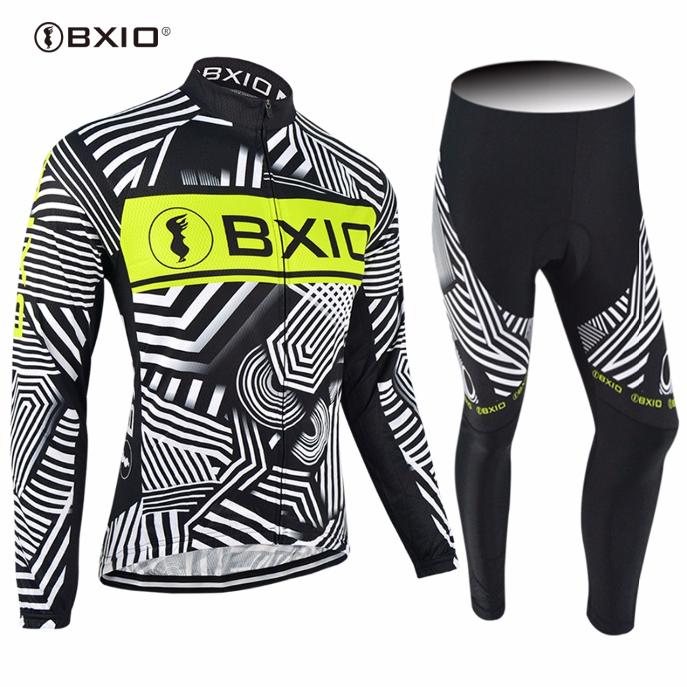 2017 New Arrival BXIO Brand  Bicycle Jersey Bike Clothes Autumn Long Sleeve Pro Team Cycling Jerseys Ropa Ciclismo 049 цена