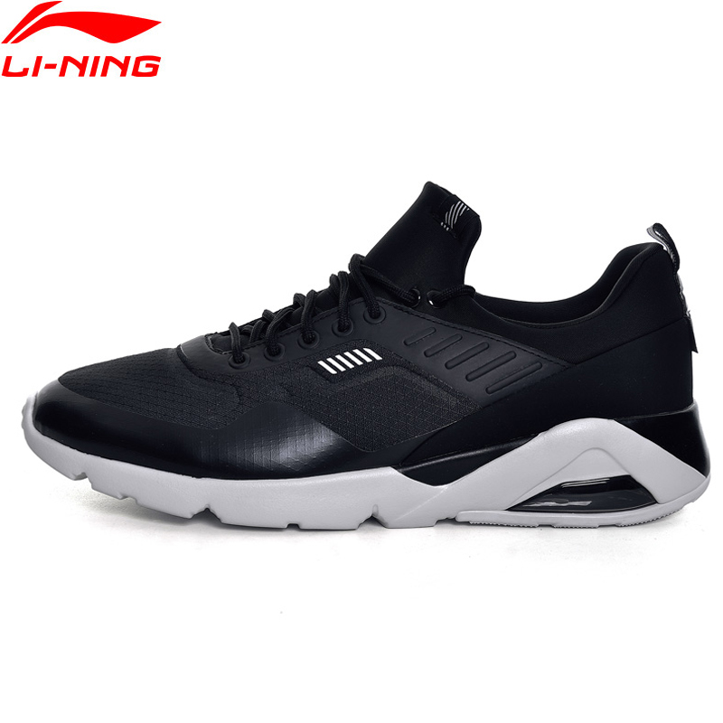 Li-Ning Men Shoes Bubble Cushion Sport Walking Shoes Fitness Comfortable Sneakers Textile Li Ning Sneakers Sports Shoes GLKM099 2017brand sport mesh men running shoes athletic sneakers air breath increased within zapatillas deportivas trainers couple shoes