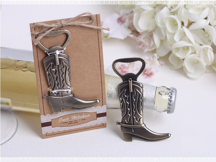 50pcs Just Hitched Cowboy Boot Metal Bottle Opener Wedding Birthday Party Favor And Gift For Guests wa3875
