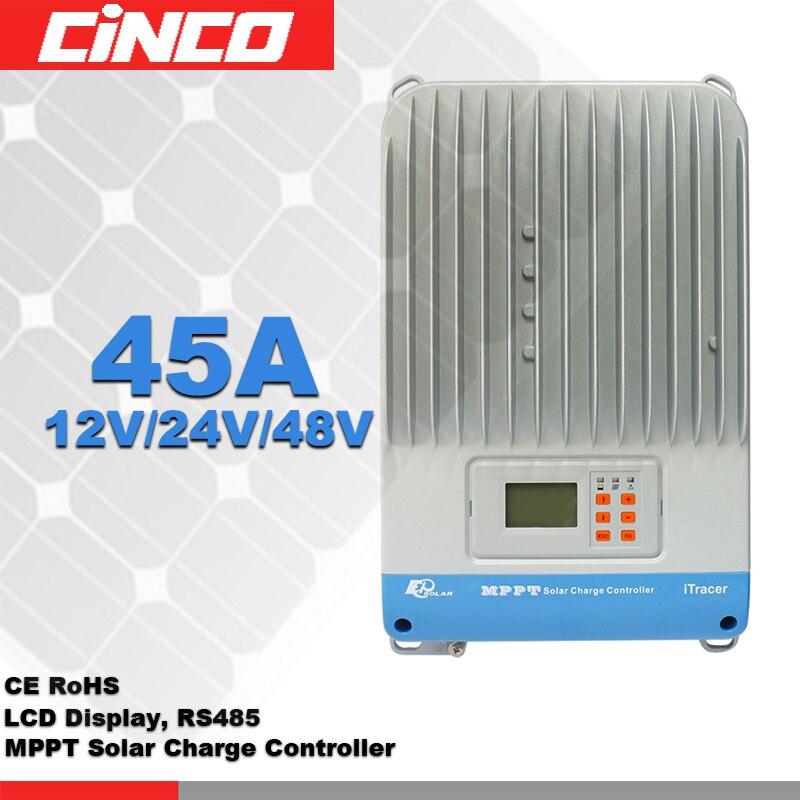 Contrôleur solaire MPPT IT4415ND 45A 12 V/24 V/36 V/48 V, charge de panneau de cellules solaires max 2400 w pour poste de travail solaire