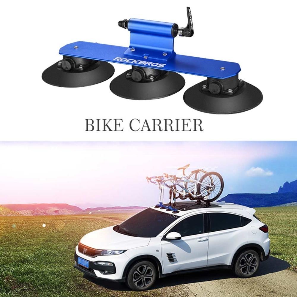 Mtb Road Bicycle Rack Roof Top Suction Bike Car Rack