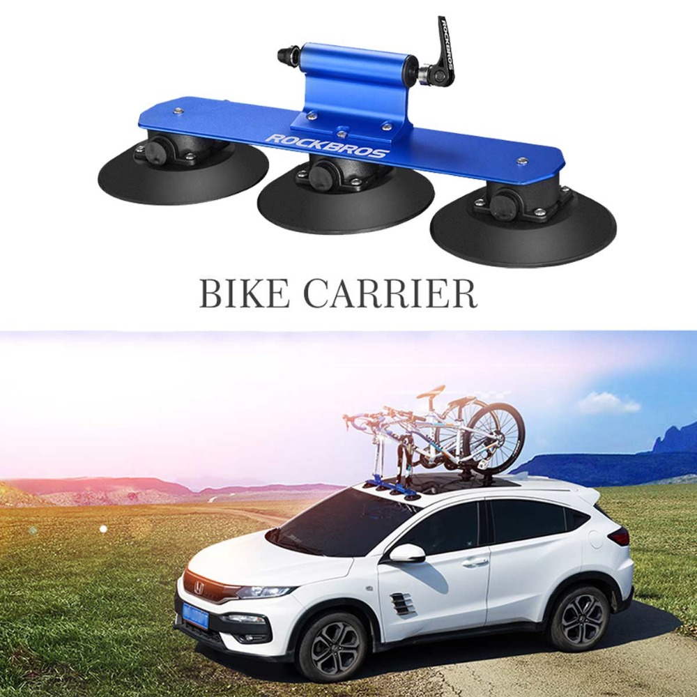 ROCKBROS MTB Road Bicycle Bike Rack For Car Suction Roof-Top Car Racks Carrier Quick Installation Roof Rack Cycling Accessories bbq fuka 2pcs car aluminum abs silver luggage carrier top roof rack cross bars fit for compass 2017 car styling car accessories