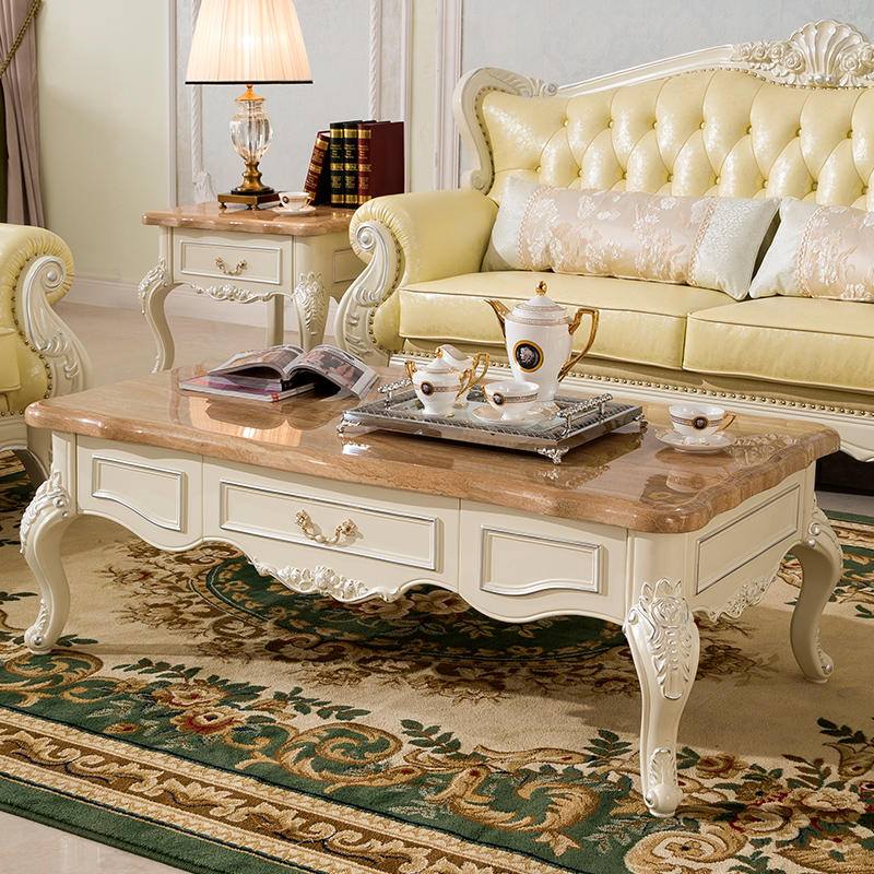 Marble Coffee Table For Living Room: European Small Apartment Living Room Coffee Table Marble