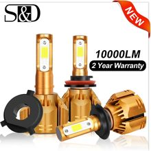 2 pcs H1 H3 H4 H7 LED H11 HB3 9005 HB4 9006 H13 9004 9007 9012 LED Car Headlight Bulbs 6000K 10000LM Auto Headlamp 12V 24V(China)