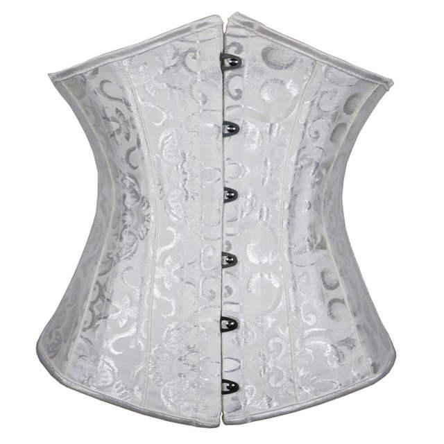 9af7afecbc Sexy Underbust Corset Spiral Steel Boned Top Waist Cincher Bustier clubwear  clothing Plus Size S-