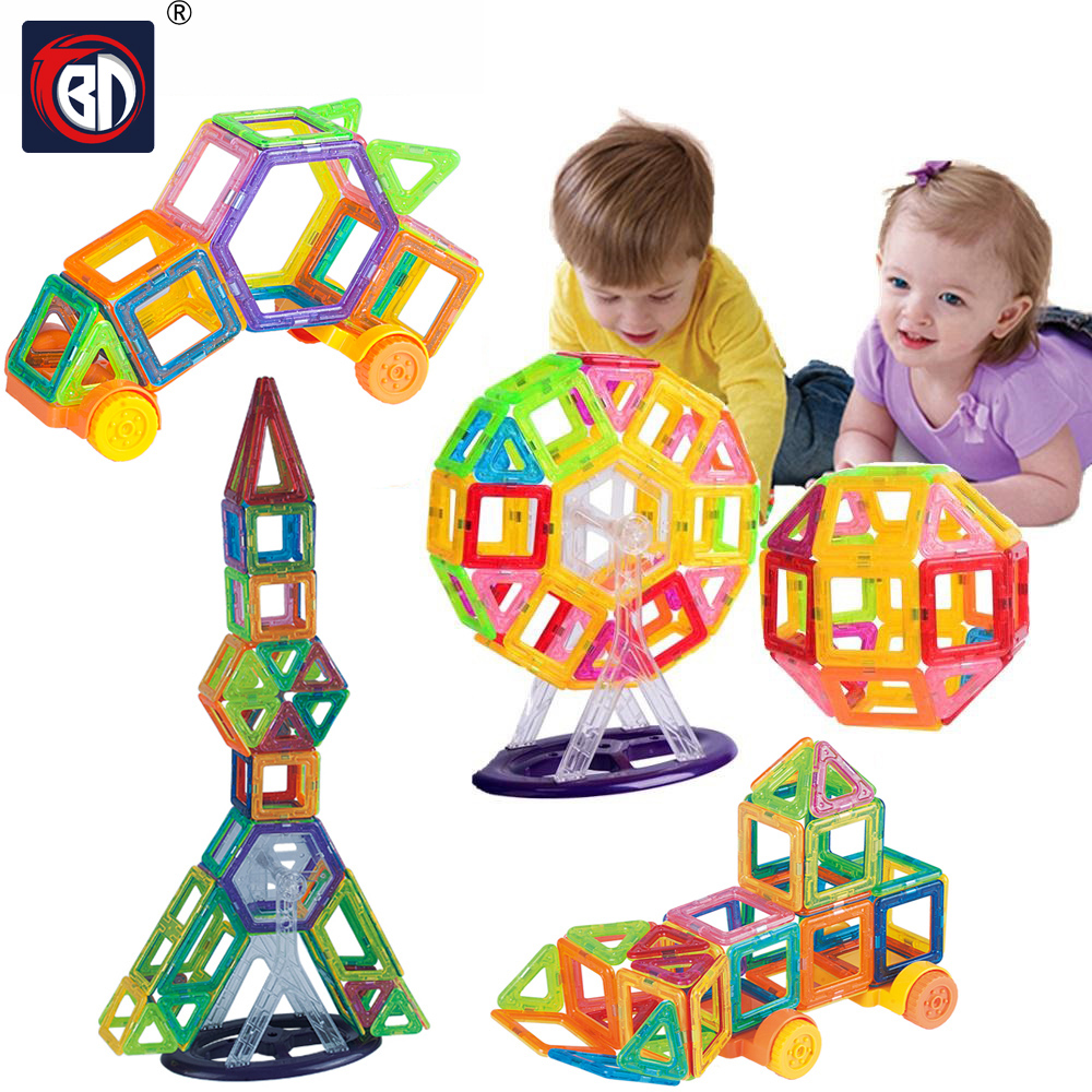 BD 174pcs Mini Magnetic Building Blocks Designer Construction Set Model Plastic Magnetic Blocks Educational Toys For Children mini 169pcs diy magnetic blocks toys construction model magnetic building blocks designer kids educational toys for children