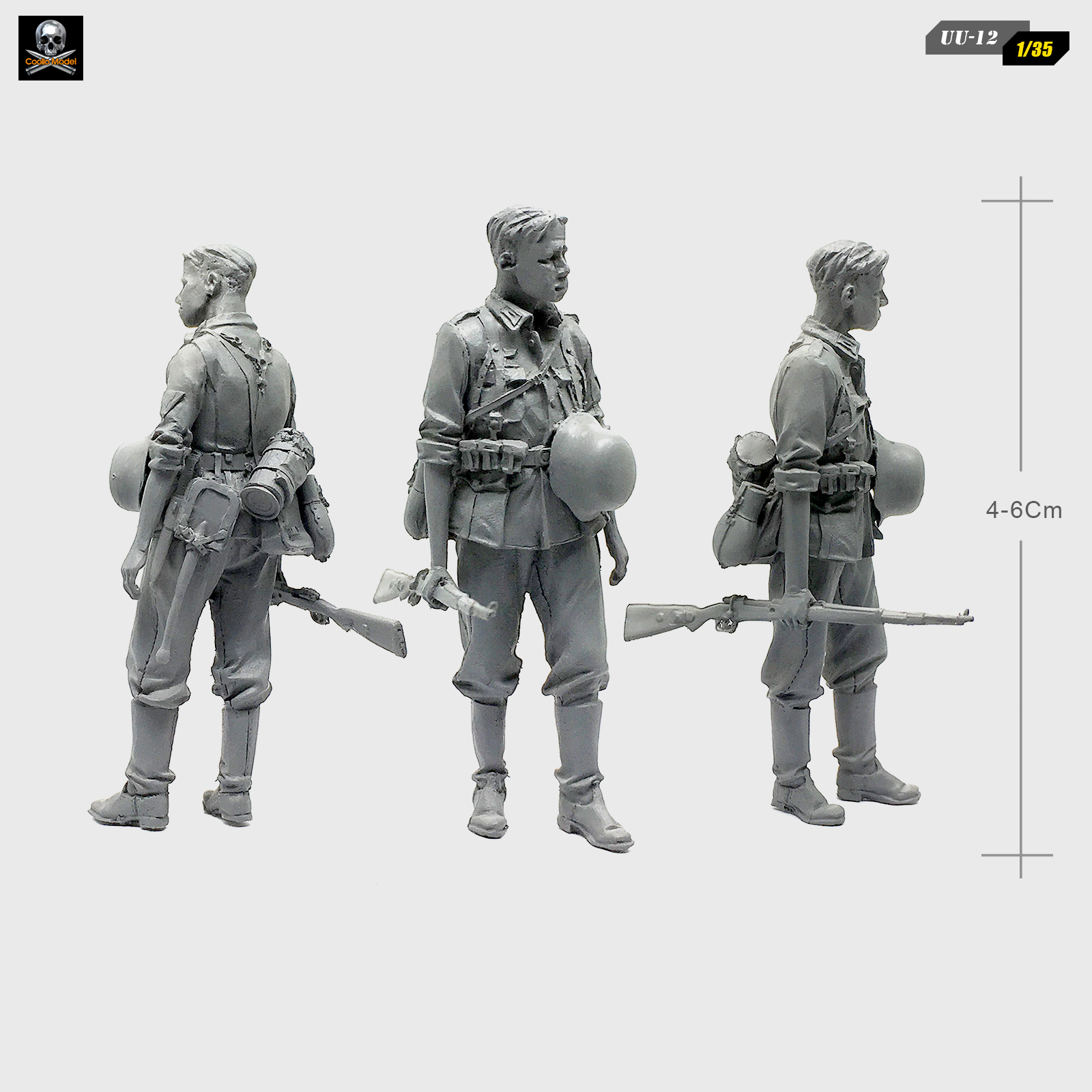 1/35 Resin Kits Soldier Standing Posture Assembling Model  Self-assembled UU-12