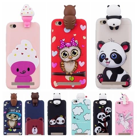Soft TPU Phone Case for Coque Xiaomi Red Note 5 6 Red 6A 7 GO Note 7 6 Pro Cover panda unicorn owl Cartoon Doll Toys Etui Funda Pakistan