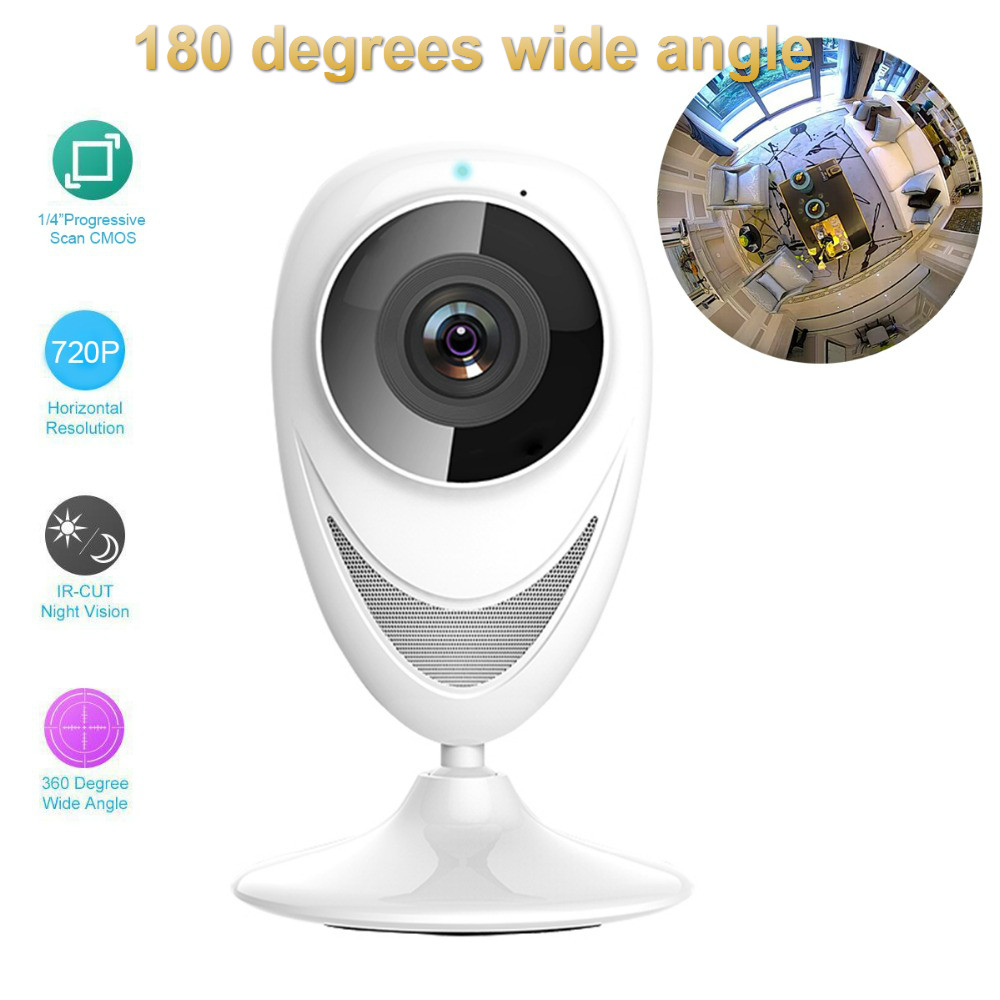 180 Degrees Wide Angle Home Security wifi IP Camera p2p Wireless Mini CCTV Camera Surveillance wifi Camera 720P Night Vision wanscam mini outdoor black 3 6mm lens wide angle ir night vision p2p pnp waterproof ip camera wireless wifi