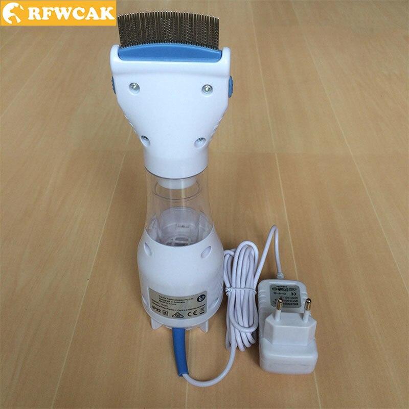 RFWCAK plástico electrónico eléctrico peine piojos peine cachorros pulgas tratamiento seguro mascotas matar gatos perro accesorios EU220