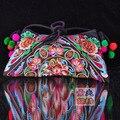 Бесплатная доставка! Вышитые сумки мешочек великолепный вышивка одно плечо cross body женская сумочка мода сумки