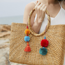 Original Design Handmade Cotton Thread Tassel Hanging Keychain Europe And America Bag Pendant Jewelry accessories Wholesale