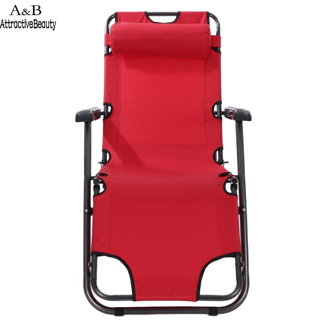 Homdox 2 unids gravedad cero silla plegable reclinable salón patio ...