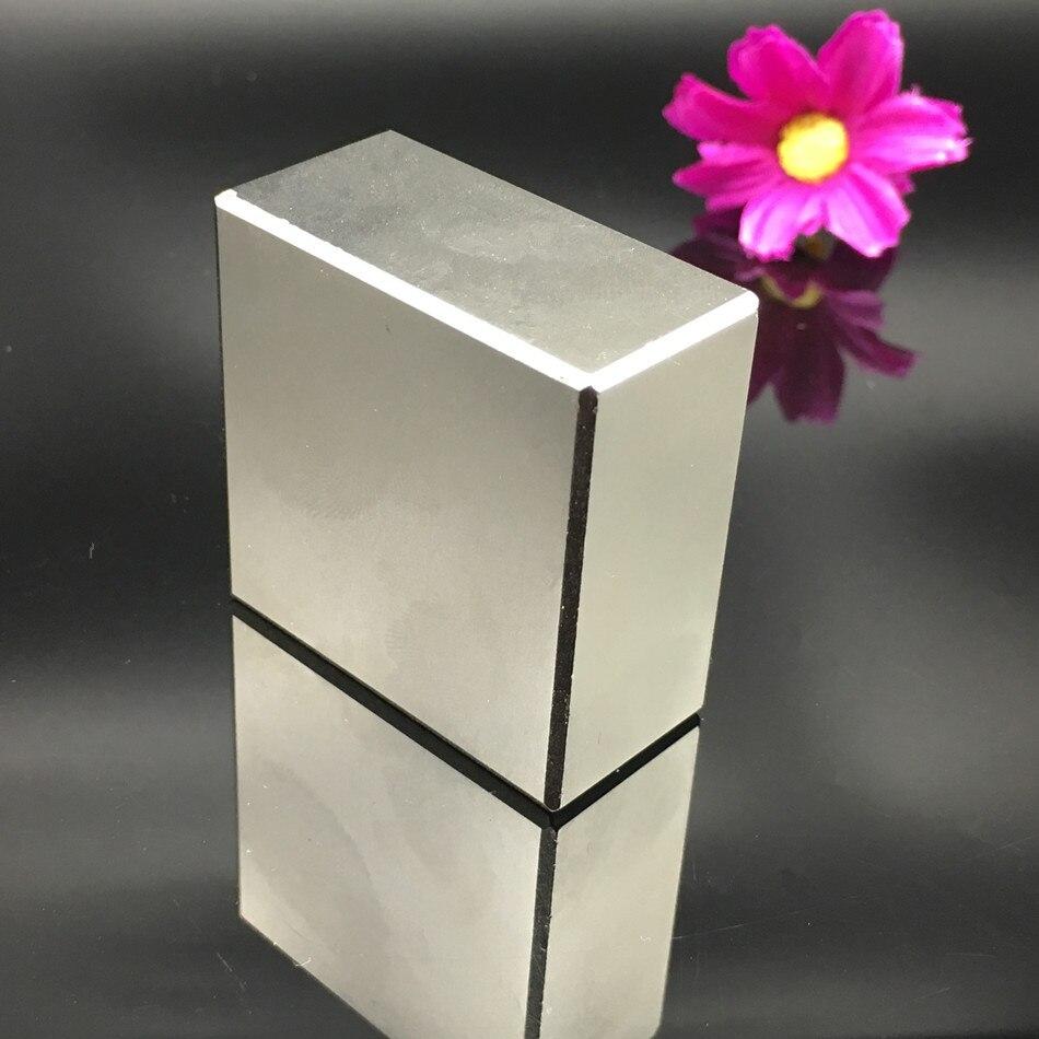 2 pz magnete Al Neodimio 40x40x20mm gallio metallo super forti magneti 40*40*20 piazza Neodimio magnete potente magneti permanenti