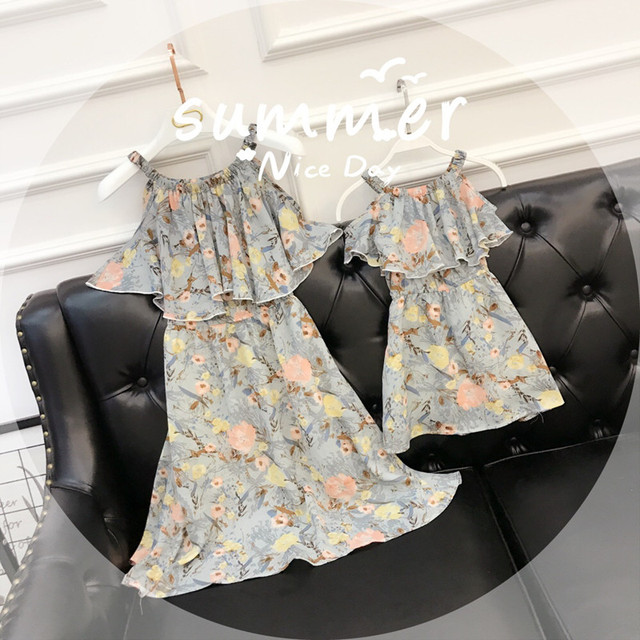 02143c66877 Mother Daughter Dresses 2018 Summer Family Matching outfits behemian style  Mommy and Me Clothes family dress mom s Beach Dress