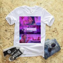 Womens Fashion Ariana Grande 7 Rings Tops&tee Girl Summer Graphic Short Sleeve T-shirt Women Hipster Holiday Tops 2019