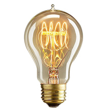 Retro Vintage A19 110V/220V E27 Screw Bulb Tungsten Filament Edison Light Incandescent Ampoule  Lamp Decoration-KK