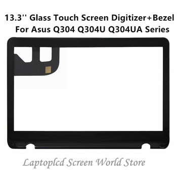 FTDLCD 13.3'' Glass Touch Screen Digitizer+Bezel Replacement Laptop For Asus Q304 Q304U Q304UA Series