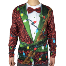 Funny Christmas Tree Printed Ugly Christmas T Shirt for Men Hilarious Long Sleeve Ugly Xmas T Shirts Plus Size ngr ugly animals