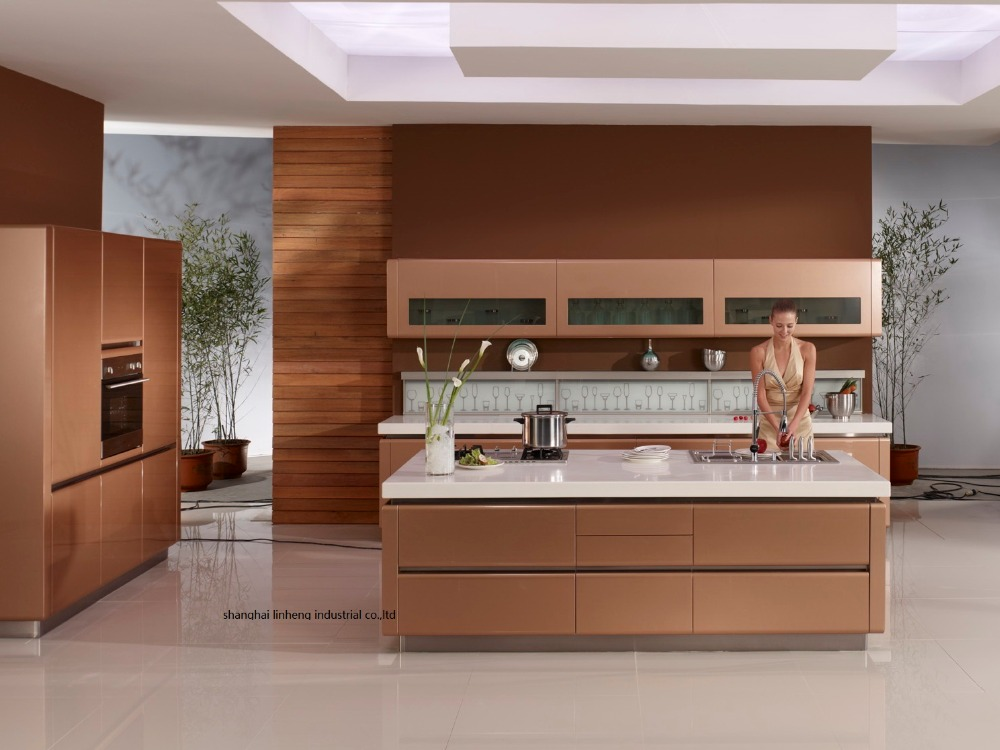 High gloss/lacquer kitchen cabinet mordern(LH LA056)-in ...