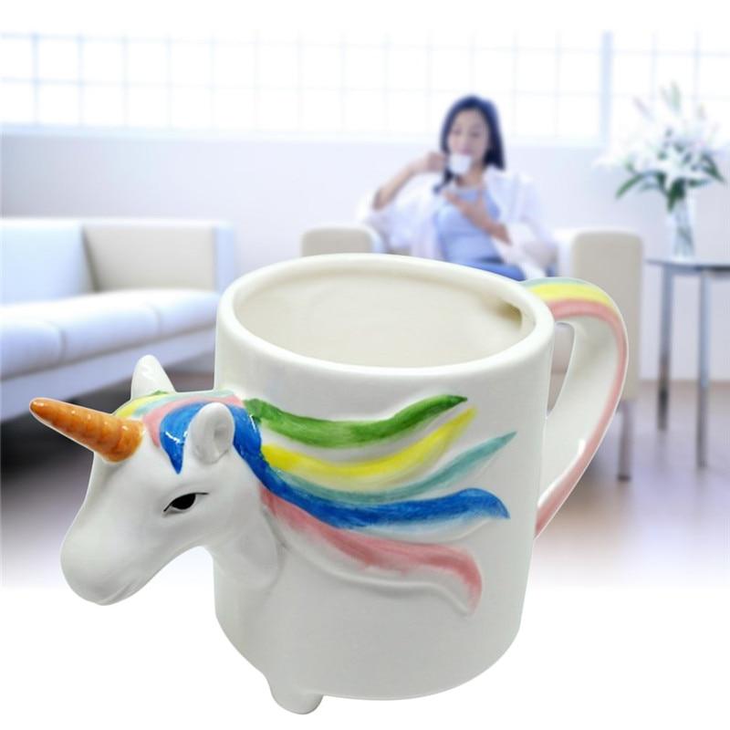 3D Cartoon Unicorn Mug Cute Ceramic Cup Water Cup Colorful Horse ...