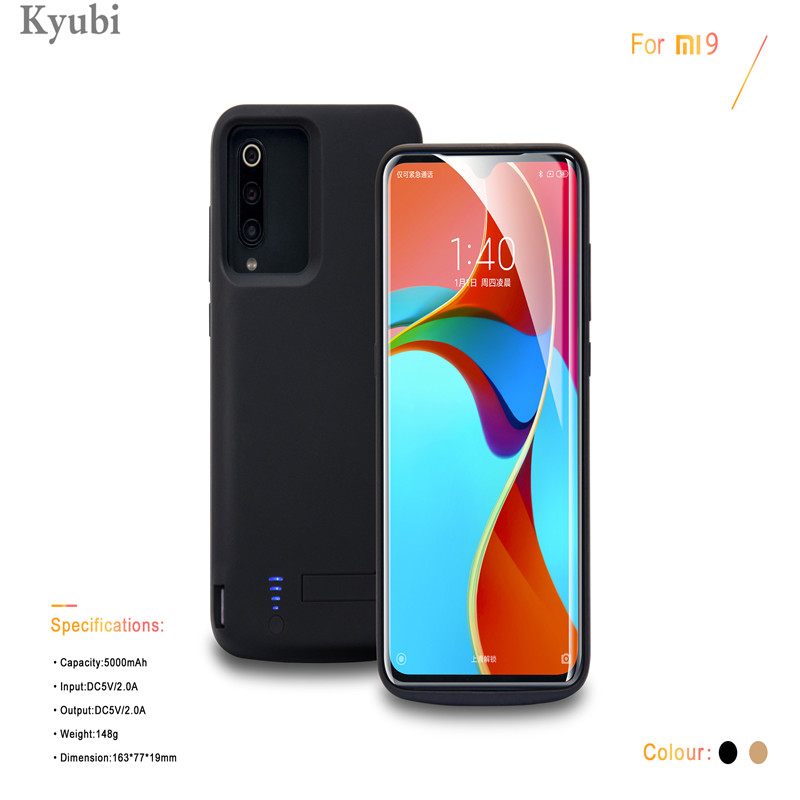 5000mAh <font><b>Battery</b></font> Charger <font><b>Case</b></font> For <font><b>Xiaomi</b></font> 9 <font><b>Mi</b></font> 9 silicon frame External Portable Power Bank Charging <font><b>Case</b></font> for <font><b>xiaomi</b></font> mi9 <font><b>mi</b></font> 9 image