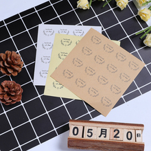 160pcs/lot Round Love garland handmade with love DIY decorative stickers Kraft paper white transparent Sealing Label Sticker