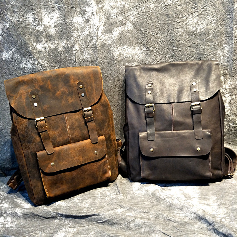 Genuine Leather Backpack Women Vintage Backpack Male Travel Backpack For Teenagers Back Pack Fashion Bagpack MochilaGenuine Leather Backpack Women Vintage Backpack Male Travel Backpack For Teenagers Back Pack Fashion Bagpack Mochila