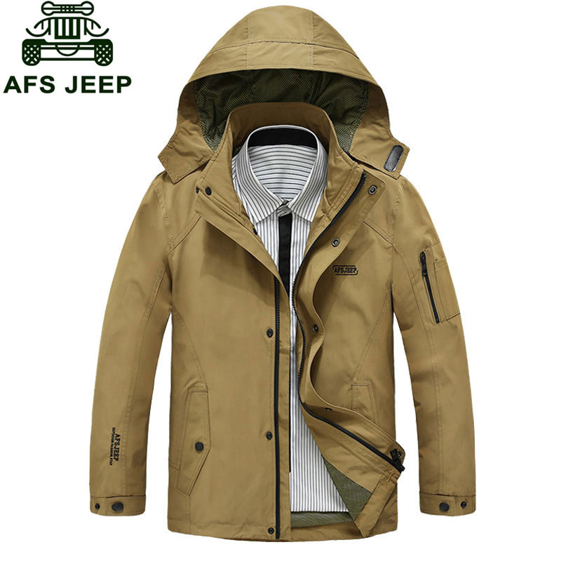 M~3XL Autumn Fall Spring Men's Loose Jackets Coats Formal Brand Slim Casual Cotton Hooded Cargo Blue Plus Size Blue Jackets