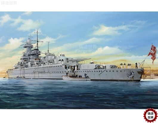 Assemble  Model 05316 1/350 German Pocket Battleship Admiral Graf Speh Model trumpeter ships model 05316 german pocket battleship graf spey