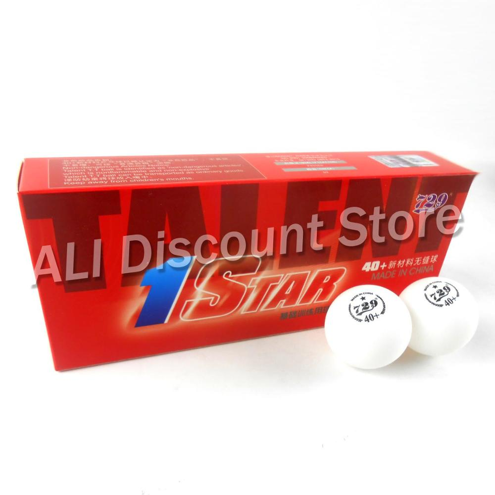 10x RITC 729 1 Star 1 Star 40+ New Materials White Table Tennis Balls