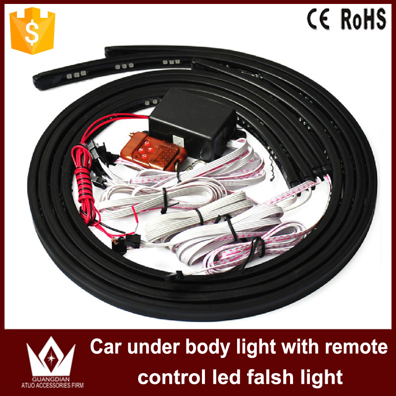 ФОТО Night Lord IP68 Waterproof 90*120 Colorful 5050 Chip led under car lightAuto chassis light kit with remote control Free shipping