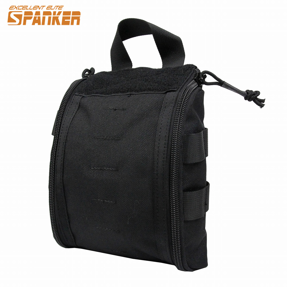 AirssonGear Store SPANKER Density Nylon Medical Bag First Aid Molle Pouch for Emergency Survival Kits Outdoor Tactical Hunting Hiking Travel Pack