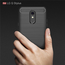 For LG Q Stylus Case Carbon Fiber Soft ShockProof Silicone Full Protector 6.2inch Back Cover Coque QStylus