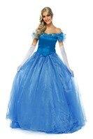 Movie New Adult Cinderella Party Cosplay Costume 1509 New Cinderella Prom Dress Princess Cosplay Costume