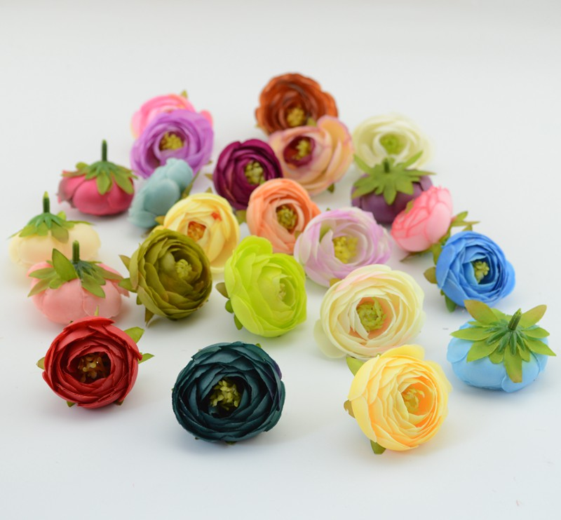 10pcs/lot Artificial flower camellia hand made home decorative wedding simulation Bride with wrist